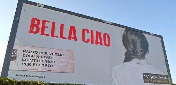 piazza italia campagna bella ciao