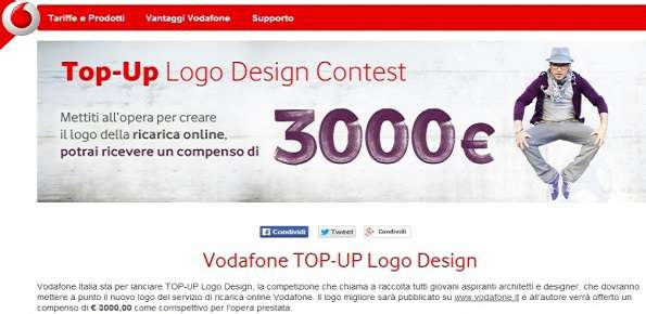concorso Vodafone top up logo design