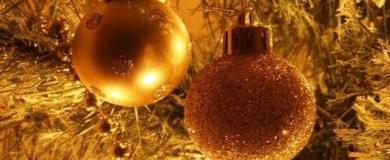Natale albero palle