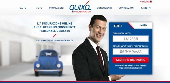 Quixa assicurazioni online