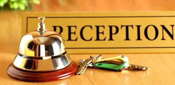 reception di albergo