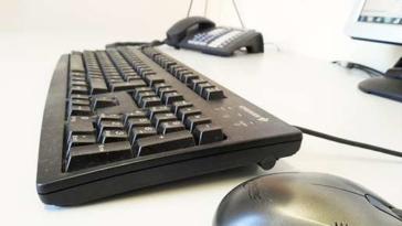 scrivania, computer, lavoro