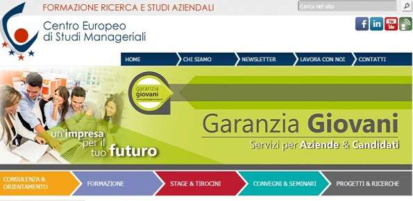 centro europeo studi manageriali stage garanzia giovani