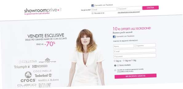 showroomprive sito e commerce