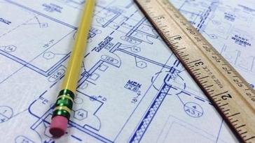 geometra, architetto, progetto, disegno