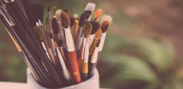 pennelli, arte, artisti