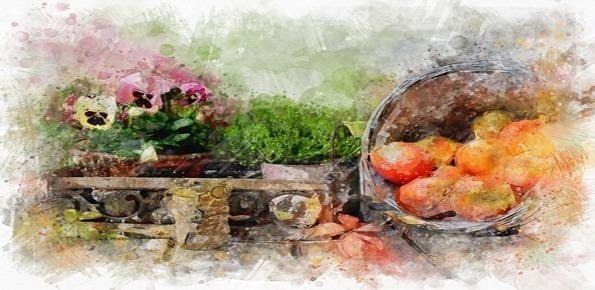 artista dipingere cibo