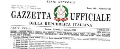 gazzetta ufficiale repubblica italiana