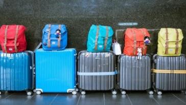 valigie, viaggio, estero
