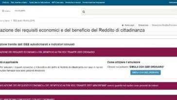 inps simulatore reddito e pensione cittadinanza