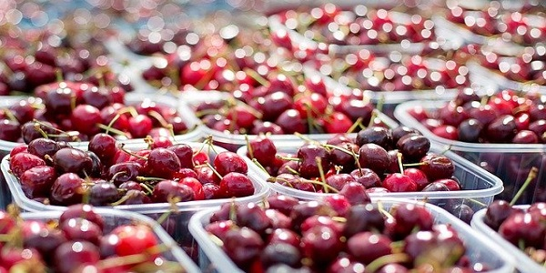 produzione, frutta, ciliege