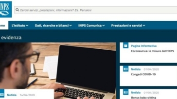 inps sito web, misure coronavirus