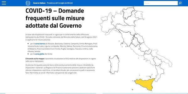 italia zone covid gialle