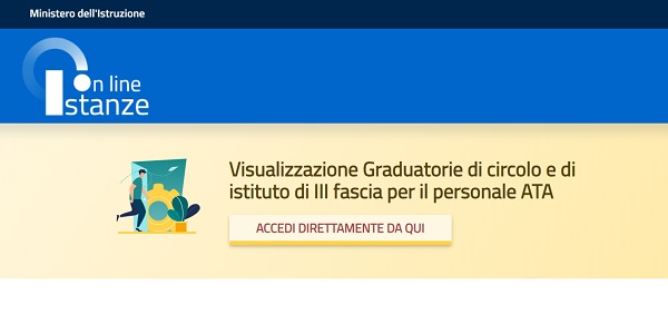 istanze online graduatorie ata terza fascia