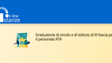 graduatorie ata terza fascia domanda online